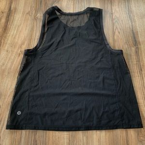 Lululemon muscle tank mesh black size 6